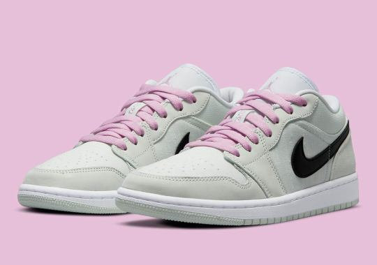 """Air Jordan 1 Low SE """"Barely Green"""" Built With Textured Canvas And Suede"""