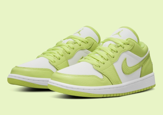 """Air Jordan 1 Low SE """"Limelight"""" Gets Tumbled Leather Uppers"""