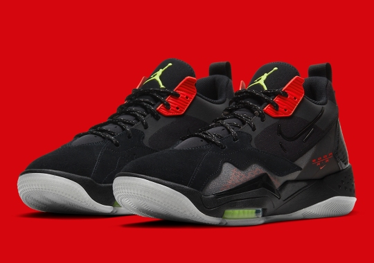 "The Jordan Zoom '92 Hits The Classic ""Bred""  With Neon Green Accents"