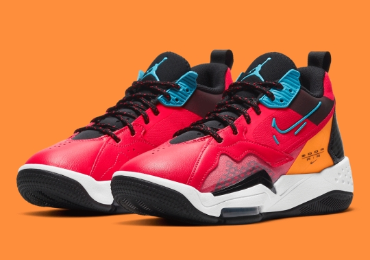 "The Women's Jordan Zoom '92 ""Siren Red"" Provides A Colorful Punch"