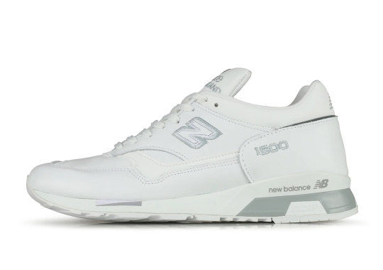 The New Balance 1500 Surfaces In A Triple White Colorway