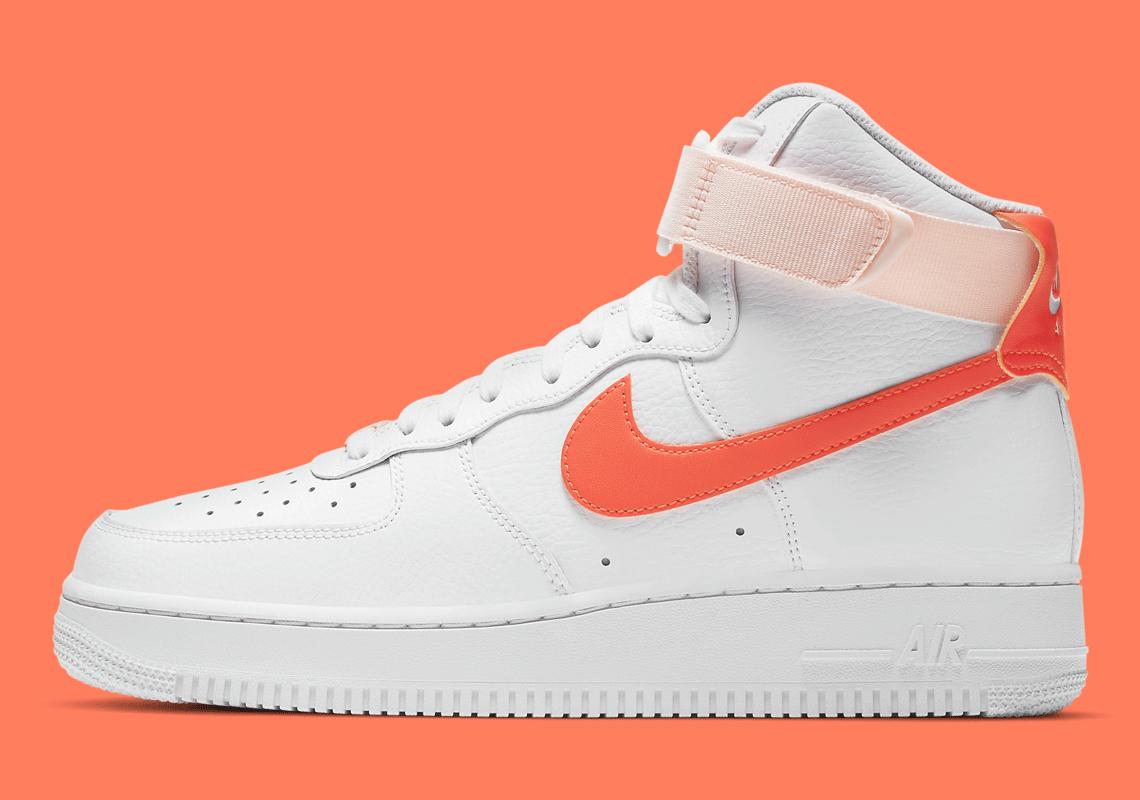 Nike Air Force 1 High White Orange Pearl 334031-118 | SneakerNews.com
