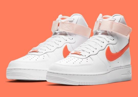 "Nike Air Force 1 High ""Pearl Orange"" Arrives For Women"