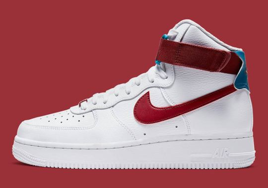 Nike Adds Team Red And Green Abyss To This Women's Air Force 1 High