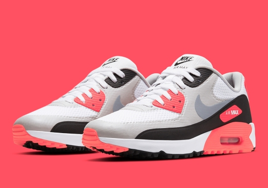 """The Nike Air Max 90 Golf Shoe Returns In """"Infrared"""""""