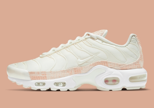 The Nike Air Max Plus Gets An Elegant Pink Snakeskin Mudguard