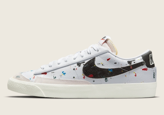Nike Sportswear's Paint Splatter Collection Extends To The Blazer Low '77