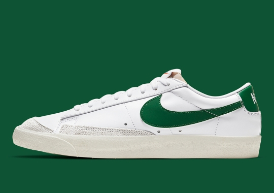 The Nike Blazer Low '77 Matches Its Mid Counterpart With Pine Green Swooshes