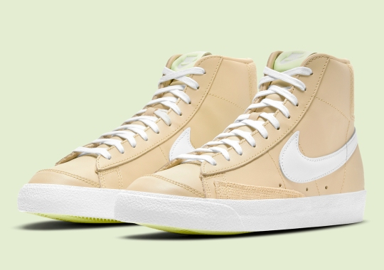 The Nike Blazer Mid '77 Contrasts Smooth Leather With Hits Of Burlap