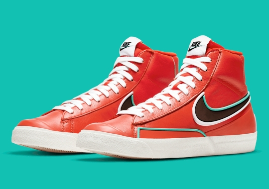 The Nike Blazer Mid Infinite Gets Bright Orange Leather Exteriors