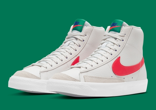 Newly Released Nike Blazer Mid '77 For Kids Focuses On Primary Colors