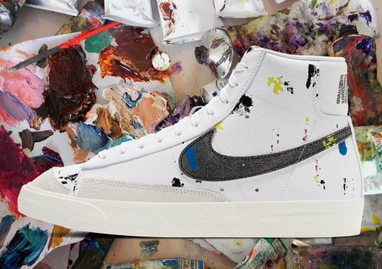 Paint Splatters Cover This Upcoming Nike Blazer Mid '77