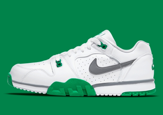 "The Nike Air Cross Trainer Low Appears In A Team-Friendly ""White"" And ""Lucky Green"""