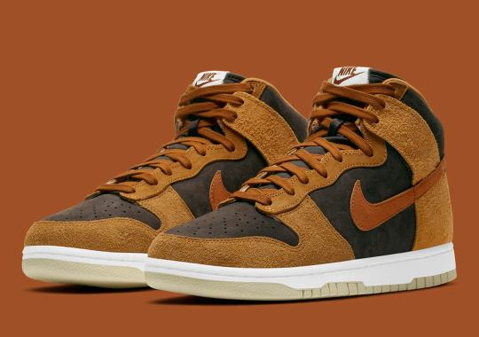 """Official Images Of The Nike Dunk High """"Dark Russet"""""""