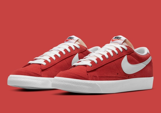 """The Nike SB Blazer Low Dresses Its Suede Uppers In """"Red Clay"""""""