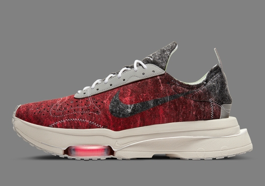 The Nike Zoom Type Appears In A Red-Dyed Recycled Wool