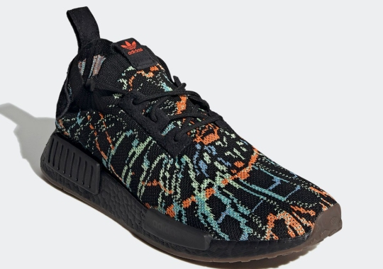 This adidas NMD R1 Patterned With A Glitchy Tie-Dye