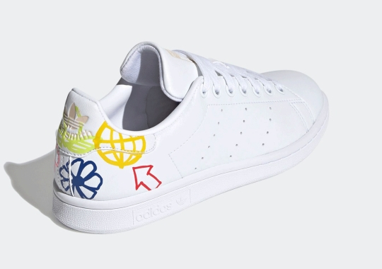 Bold And Playful Drawings Featured On This adidas Stan Smith