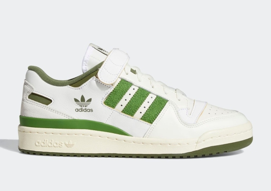 """adidas Pushes A Classic Colorblocking With The Forum '84 Lo """"Crew Green"""""""