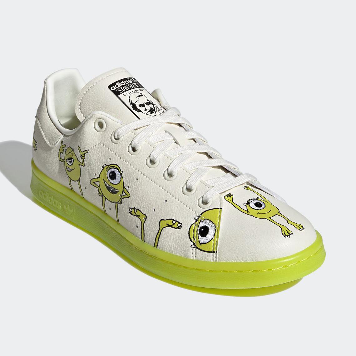 Discriminación sexual eficiencia excusa  Monsters Inc adidas Stan Smith Mike Wazowski FZ2706 | SneakerNews.com