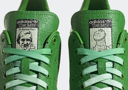 Toy Story's Rex Covers The adidas Stan Smith In Prehistoric Leather Uppers