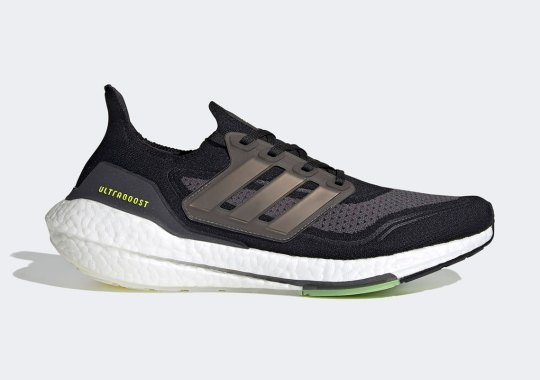 The adidas Ultraboost 21 Is Arriving In Core Black And Solar Yellow