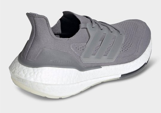adidas Ultraboost 21 Just Released In Tonal Grey Uppers