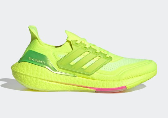 The adidas Ultraboost 21 Goes Full Solar Yellow