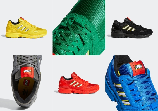 LEGO And adidas Build Up A Six-Piece Set Of ZX 8000 Colorways