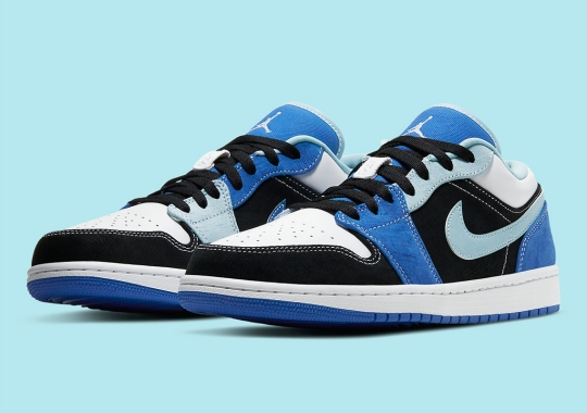 Air Jordan 1 Low Sees Contrast Stitching In Multi-Blue Palette