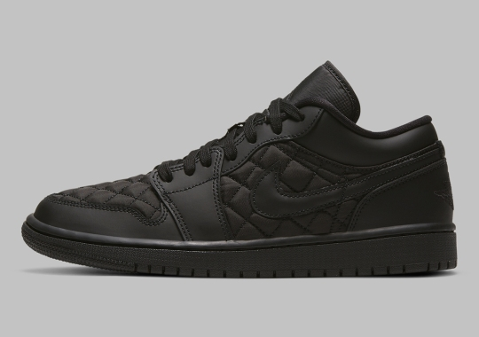 "The Quilted Air Jordan 1 Low ""Triple Black"" Is Available Now"