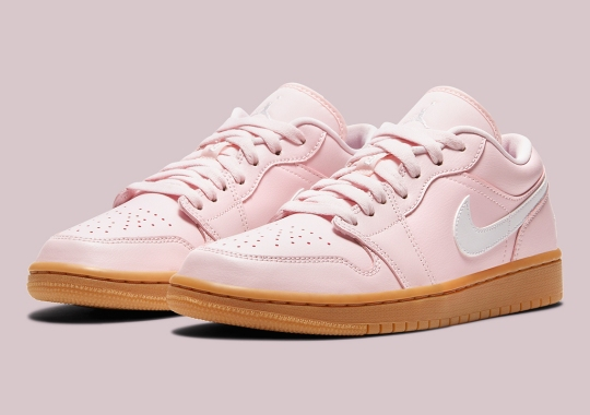 The Women's Air Jordan 1 Low Pairs Arctic Pink With Gum Soles