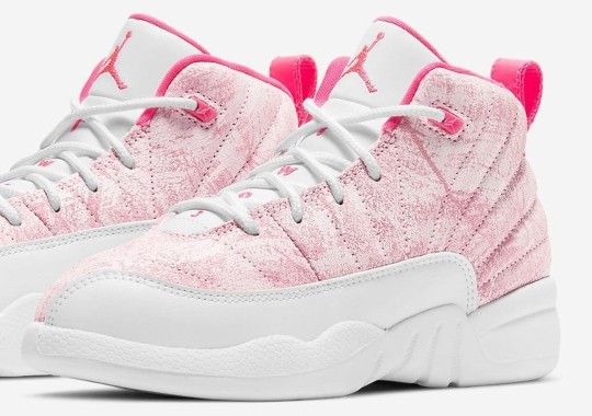"Worn Leathers Appear On Girls-Exclusive Air Jordan 12 ""Hyper Pink"""