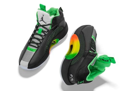 Jayson Tatum Sports A Video Game Themed Air Jordan 35 PE