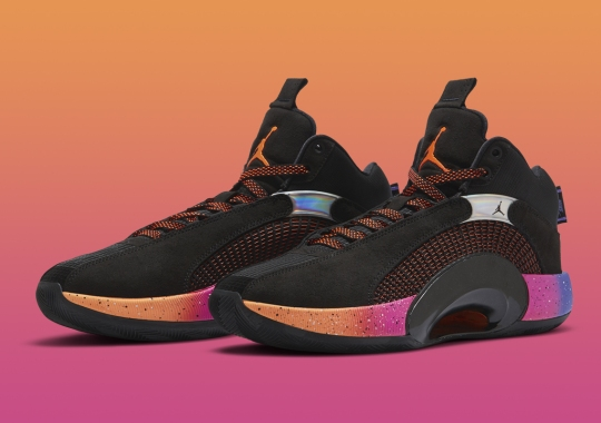 The Air Jordan 35 Applies A Sunset-Colored Gradient On The Soles