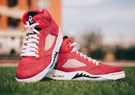 The Air Jordan 5 College PE Battles Continue With The Oklahoma Sooners