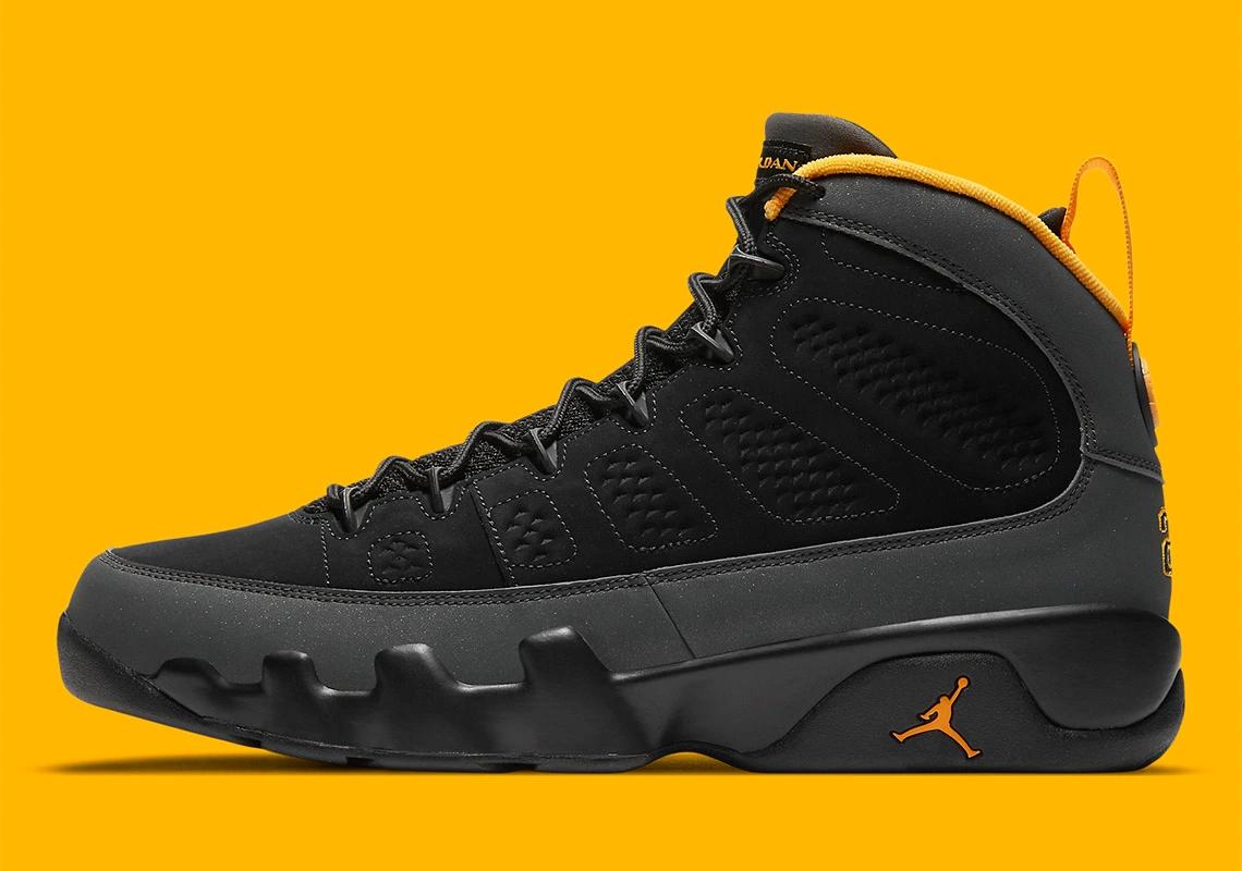 Air Jordan 9 Dark Charcoal Gold CT8019-070 Retro | SneakerNews.com