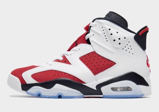 "The Air Jordan 6 ""Carmine"" Brings Back Nike Air For First Time Since 1991"