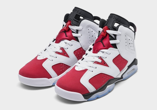 "Air Jordan 6 ""Carmine"" Revealed In Full Kids Sizing"
