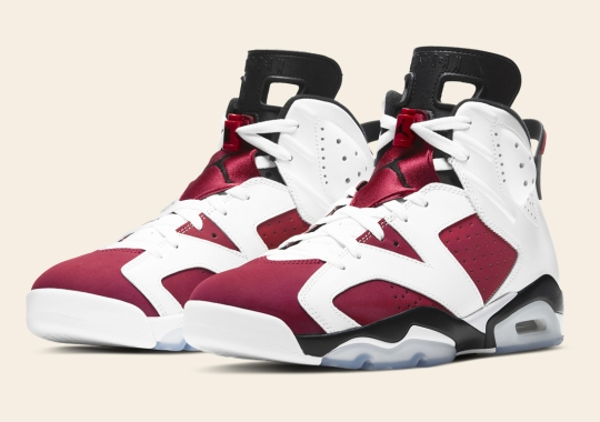 "The Air Jordan 6 ""Carmine"" Brings Back Nike Air For First Time Since 1991"