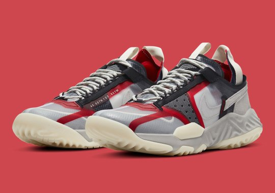 The Jordan Delta Breathe Appears In Lifestyle-Friendly Light Bone And Varsity Red