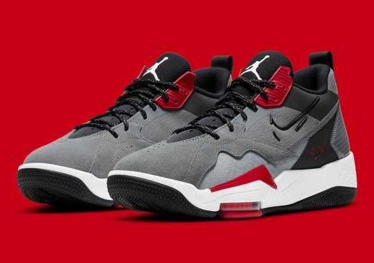 "The Jordan Zoom 92 ""Cool Grey"" Gets Some Bold Red Accents"