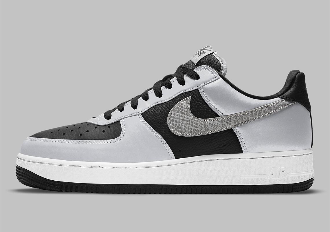 Nike Air Force 1 B Silver Snake DJ6033-001 Release | SneakerNews.com