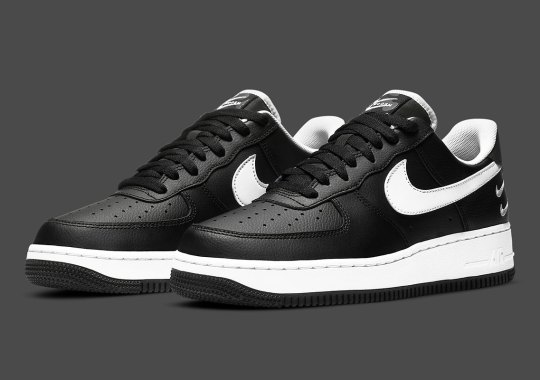 The Double-Checked Nike Air Force 1 Low In Black Is Available Now
