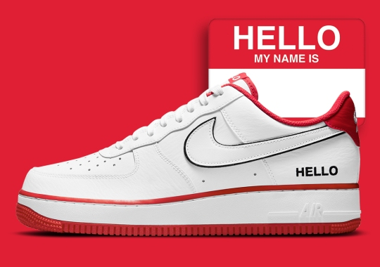 "Nike Greets You With The Air Force 1 Low ""Name Tag"""
