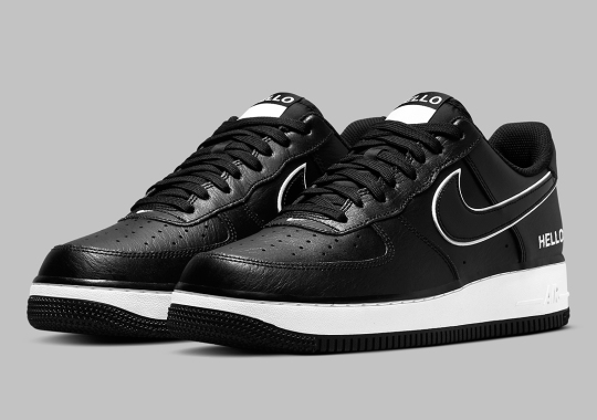 "The Nike Air Force 1 Low ""Name Tag"" Appears In Black And White"