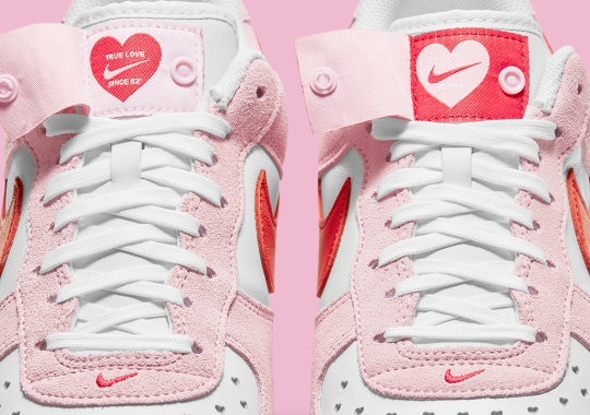 Another Valentine's Day Nike Air Force 1 Appears With A Love Letter