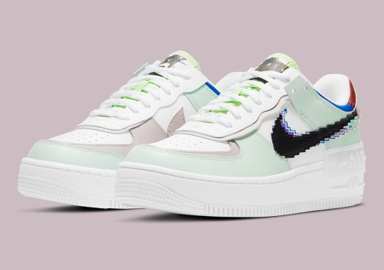 Pixelated Swooshes Emerge Yet Again On This Colorful Nike Air Force 1 Shadow