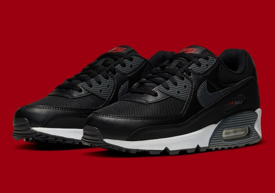 The Nike Air Max 90 Surfaces In The New Year In Simple Black, Red, And Grey