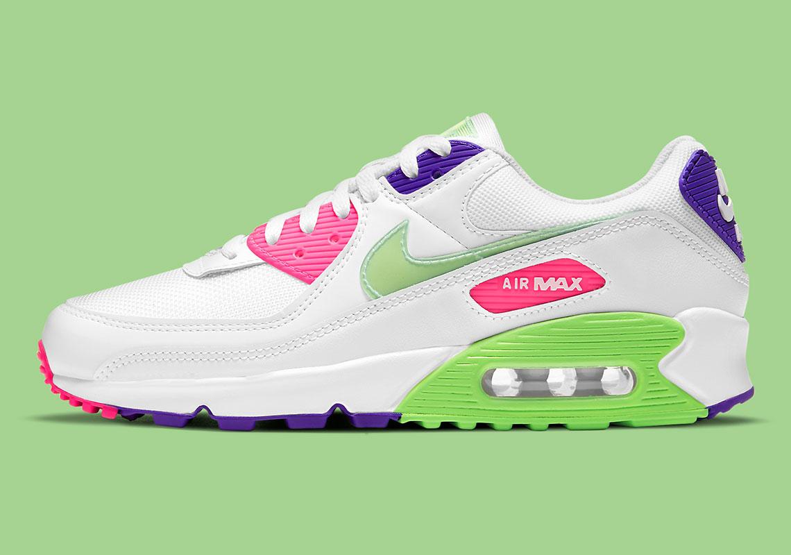 Nike Air Max 90 Bright Neon DH0250-100 | SneakerNews.com